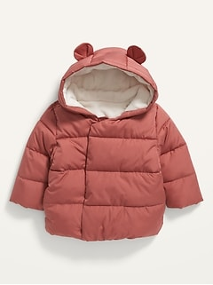 Unisex Frost-Free Hooded Puffer Jacket for Baby