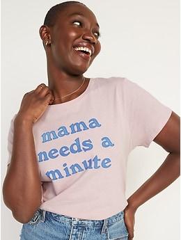 T-shirt ras du cou passe-partout à imprimé pour Femme