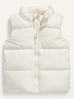 Solid Frost-Free Puffer Vest for Baby