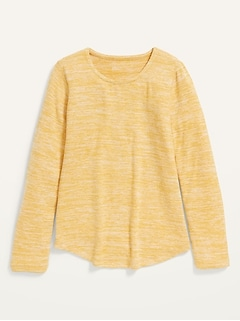 Cozy-Knit Long-Sleeve T-Shirt for Girls