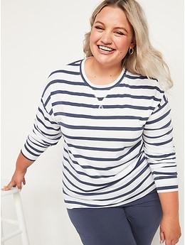 Sunday Sleep Long-Sleeve Pajama Tunic Top for Women