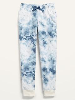 Printed Micro Fleece Pajama Joggers for Girls
