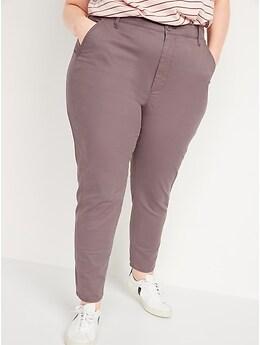O.G. à taille haute Pantalon chino droit pour Femme