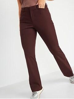 Pantalon long Pixie évasé à taille haute, pour femme