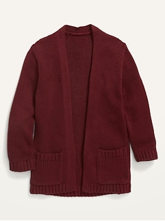 Open-Front Sweater for Toddler Girls