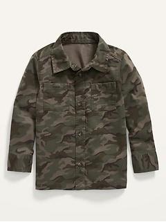 Chemise à manches longues et à poche à imprimé camouflage pour Tout-petit Garçon
