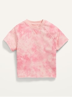 Gender-Neutral Short-Sleeve French Terry Sweatshirt for Kids
