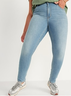 High-Waisted Light-Wash Super Skinny Jeans for Women