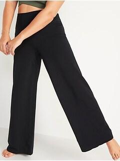 Extra High-Waisted PowerChill Hidden-Pocket Wide-Leg Yoga Pants for Women