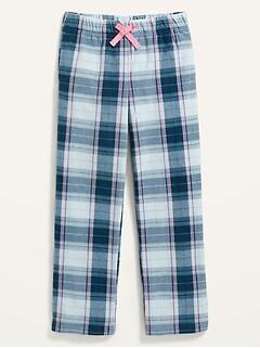 Printed Micro Fleece Straight Pajama Pants for Girls