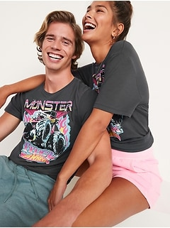 Hot Wheels™ Monster Truck Gender-Neutral Graphic Tee for Adults