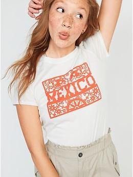T-shirt à imprimé des fêtes pour Femme