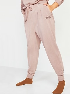 Mid-Rise Tie-Dyed Logo-Graphic Sweatpants for Women