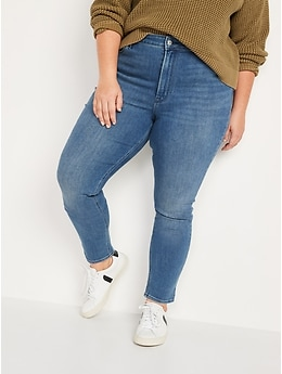 High-Waisted Medium-Wash Super Skinny Jeans for Women