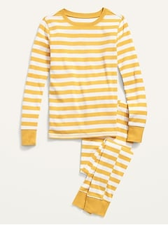 Gender-Neutral Printed Snug-Fit Pajama Set for Kids