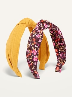 Fabric-Covered Headband 2-Pack for Women