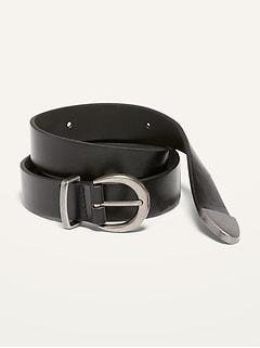 Faux-Leather Western Belt for Women (1-inch)