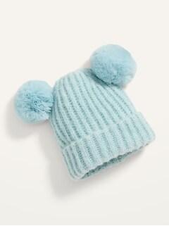 Rib-Knit Pom-Pom Beanie for Baby