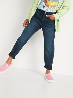 High-Waisted O.G. Straight Built-In Tough Dark-Wash Jeans for Girls