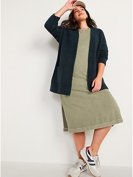 Cozy-Knit Open-Front Cardigan Sweater for Women