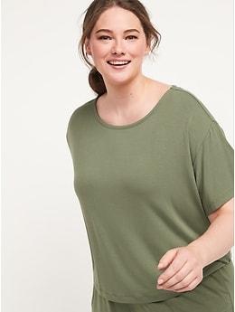 T-shirt ample en jersey ultra-doux pour Femme