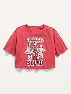 Loose Licensed Pop-Culture Cropped T-Shirt for Girls