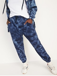 Extra High-Waisted Specially-Dyed Fleece Classic Sweatpants for Women