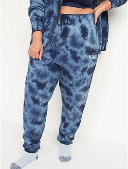 High-Waisted Logo-Graphic Tie-Dye Sweatpants for Women