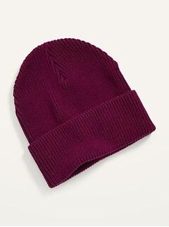 Chapeau unisexe en tricot côtelé à large bord pour Adulte