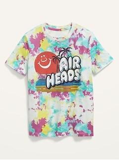 Gender-Neutral Licensed Pop-Culture Graphic Tie-Dye T-Shirt for Kids