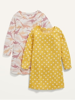 2-Pack Long-Sleeve Nightgown for Toddler Girls