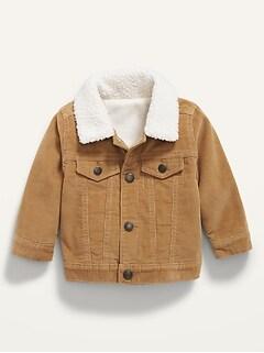 Unisex Sherpa-Trim Corduroy Trucker Jacket for Baby
