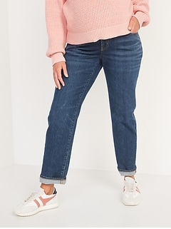 Maternity Full Panel Slouchy Straight Jeans