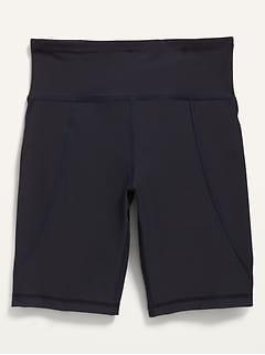 High-Waisted PowerSoft Side-Pocket Biker Shorts for Girls