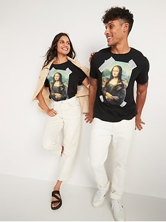 Mona Lisa Gender-Neutral Graphic Tee for Adults
