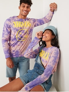 Nirvana™ Graphic Gender-Neutral Long-Sleeve Tee for Adults