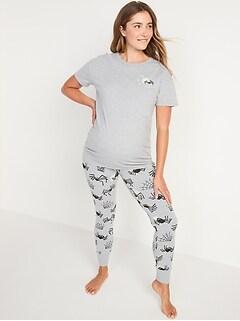 Maternity Matching Halloween Glow-in-the-Dark Pajama Set