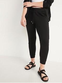 Pantalon d'entraînement à jambe fuselée et taille moyenne pour femme