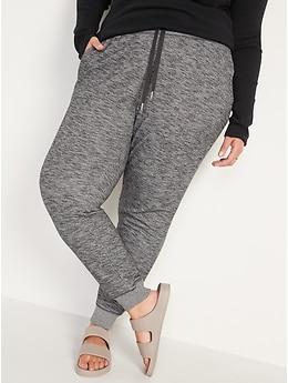 Mid-Rise Vintage Street Jogger Pants for Women