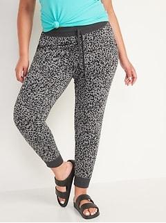 Mid-Rise Vintage Street Jogger Sweatpants for Women
