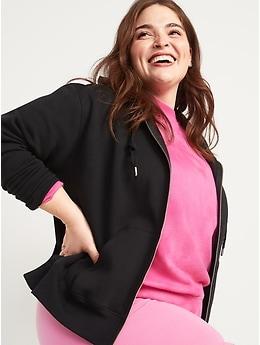 Vintage Zip-Front Hoodie for Women
