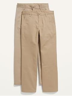 Pantalon d'uniforme droit à extensibilité intégrée pour Garçon (paquet de2)
