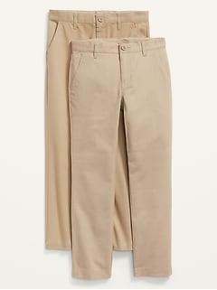 Pantalon d'uniforme ajusté à extensibilité intégrée pour Garçon (paquet de2)