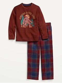 Gender-Neutral Graphic Pajama Set For Kids