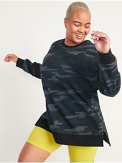 Oversized Vintage Tunic Sweatshirt for Women