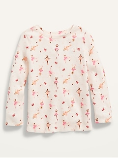 Unisex Long-Sleeve Printed Thermal T-Shirt for Toddler