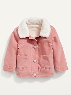 Corduroy Sherpa-Trim Trucker Jacket for Baby