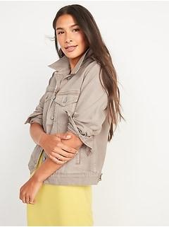 Tan Non-Stretch Jean Jacket for Women