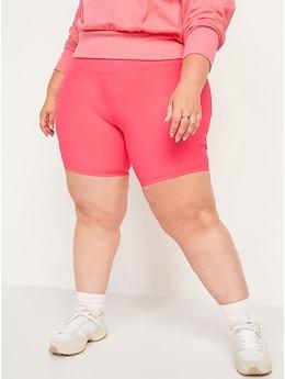 Short de vélo Powersoft à taille haute et à poches latérales pour femme, entrejambe de 20cm
