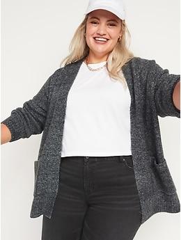 Cardigan en tricot douillet ouvert à l'avant pour Femme
